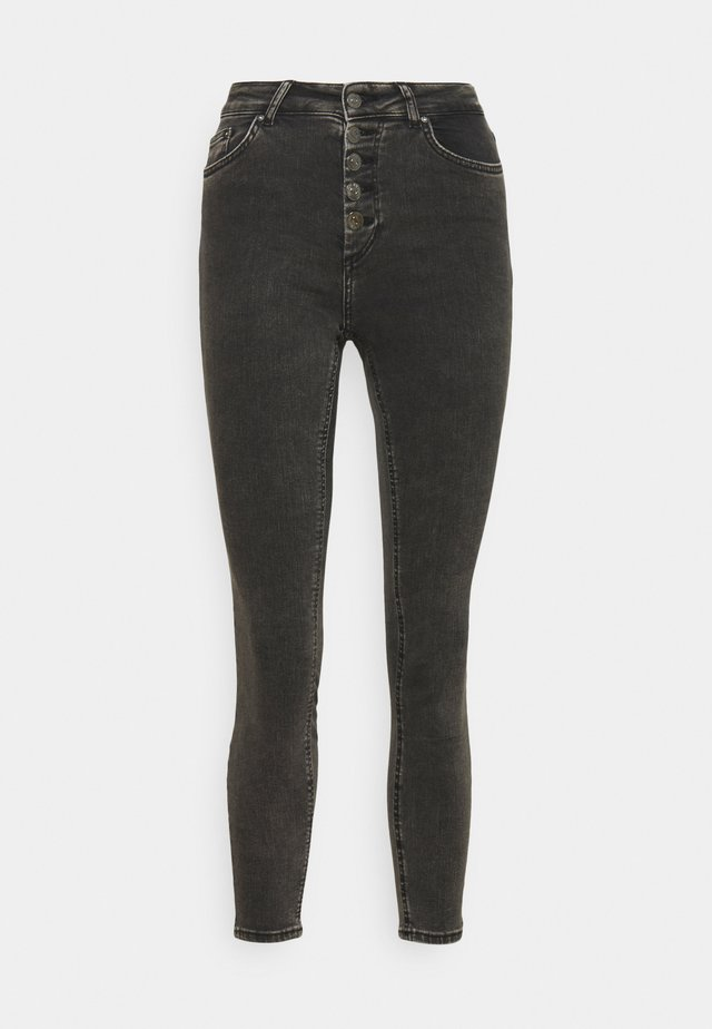ONLBLUSH BUTTON JEANS  - Jeans Skinny Fit - black