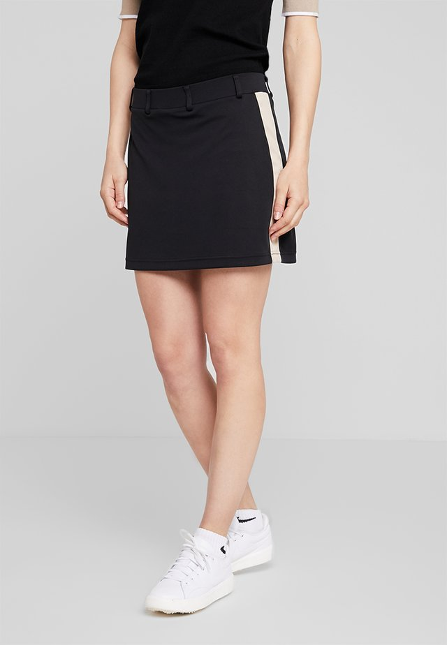 STRIPE SKORT - Rokken - black
