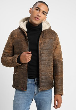 HEMINGWAY - Lederjacke - antic brown
