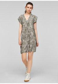 s.Oliver - Day dress - khaki aop - 1
