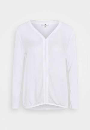 FABRIC MIX - Long sleeved top - whisper white