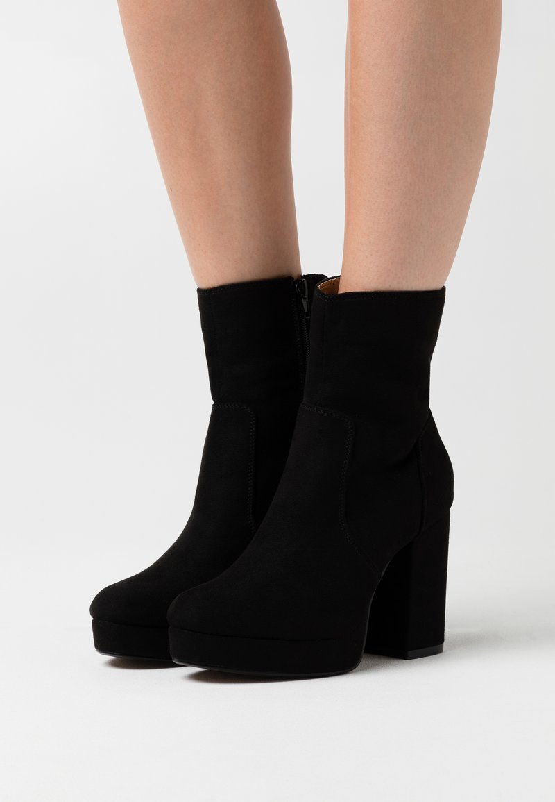 ONLY SHOES - ONLBRIN LIFE SHAFT BOOTIE  - High heeled ankle boots - black