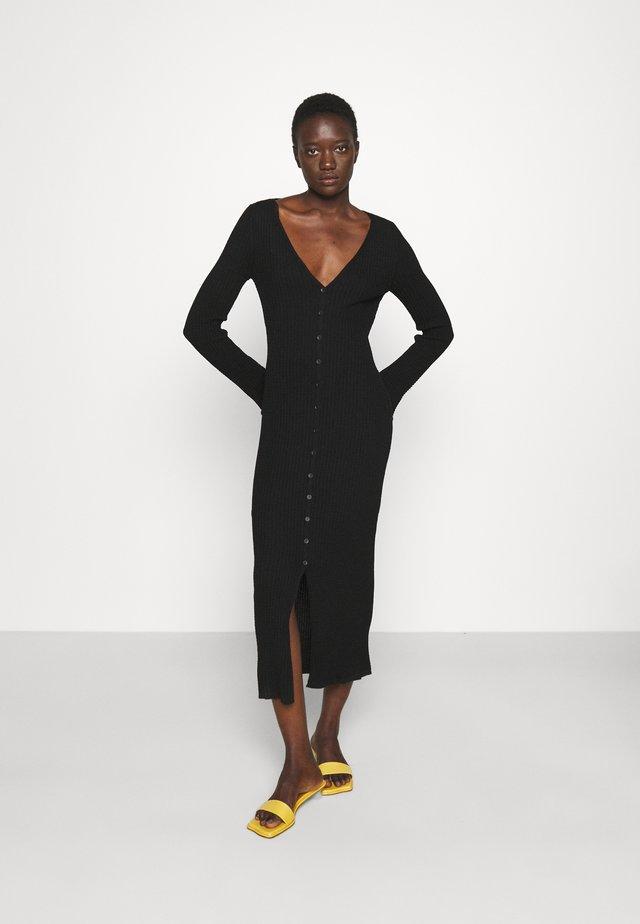 LONG DRESS - Gebreide jurk - black beauty
