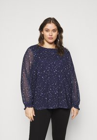 MY TRUE ME TOM TAILOR - BLOUSE WITH PRINT - Blouse - navy - 0