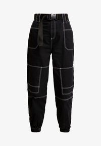 Topshop - CONTRAST GILDA UTILITY - Kalhoty - black - 5