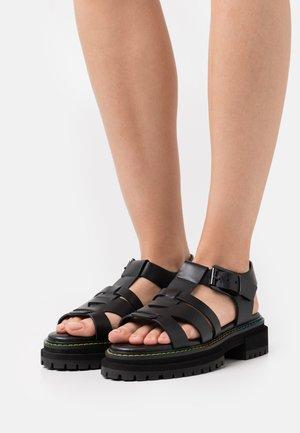 BIRDIE  - Platform sandals - black
