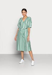 esmé studios - WRAP AROUND DRESS - Day dress - frosty spurce/snow white - 0
