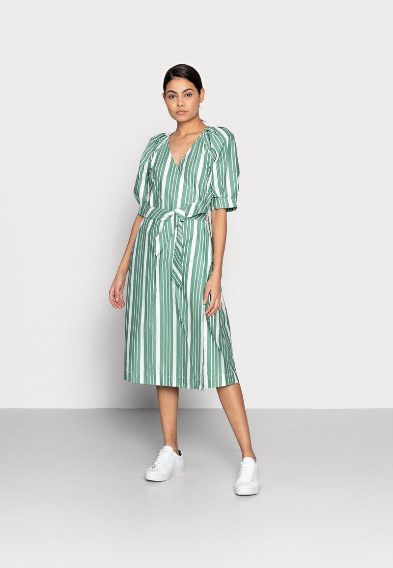 esmé studios - WRAP AROUND DRESS - Day dress - frosty spurce/snow white
