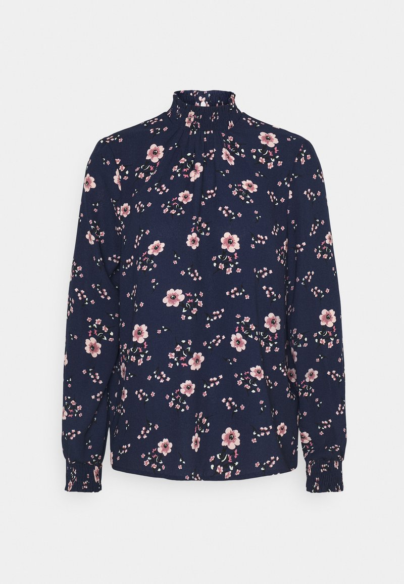 Vero Moda - VMGALLIE HIGH NECK SMOCK - Long sleeved top - navy blazer