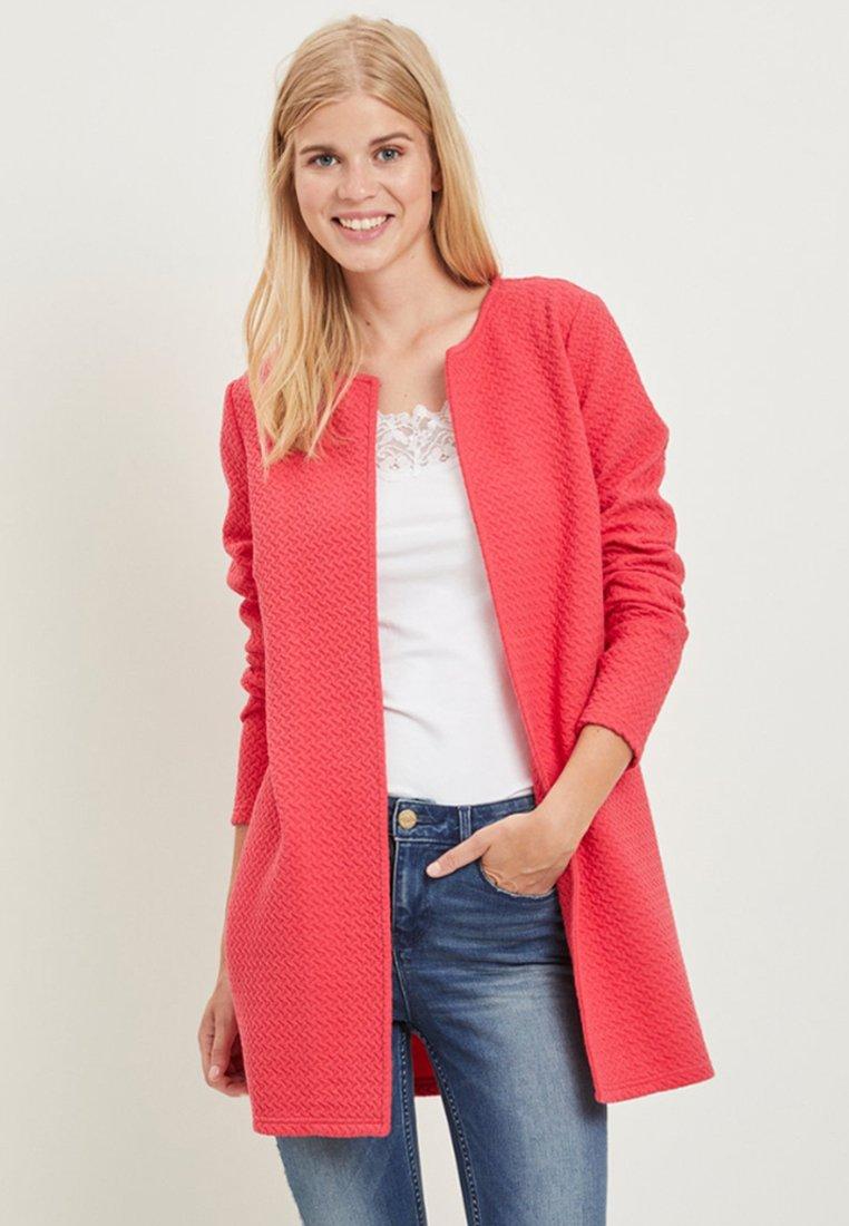 Vila - VINAJA NEW LONG JACKET - Summer jacket - red