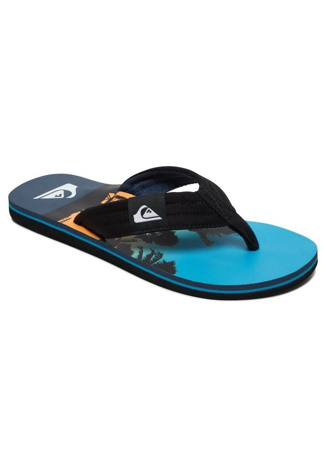 MOLOKAI LAYBACK - Bade-Zehentrenner - black/blue/blue