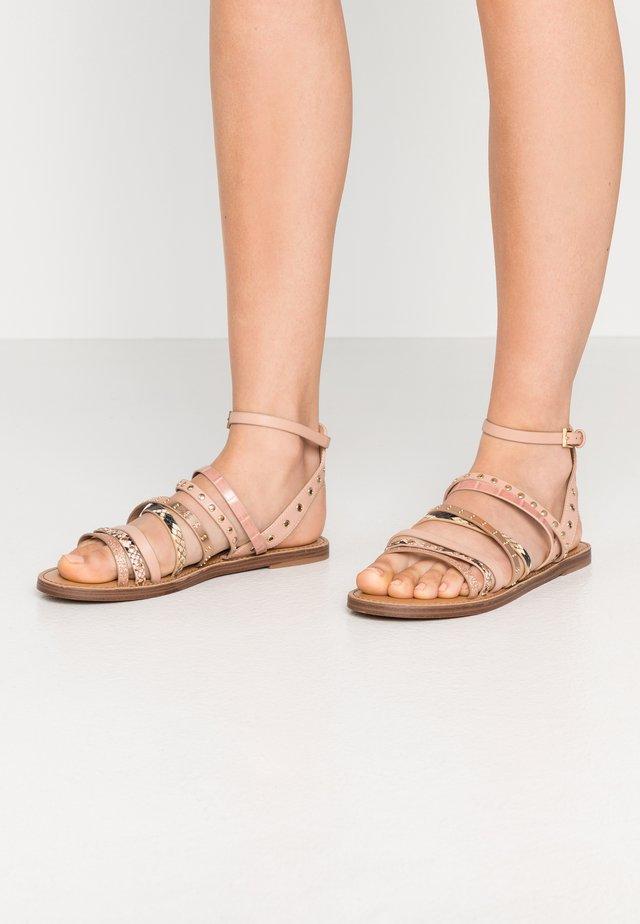LEGERIDIA - Sandals - light brown