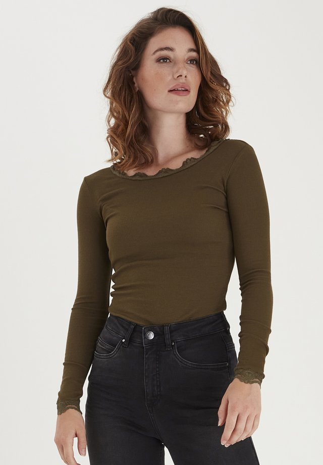 HIZAMOND - Long sleeved top - dark olive