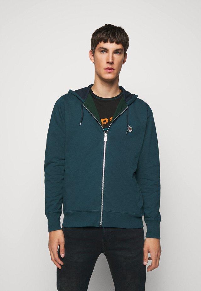ZIP HOODY - Zip-up hoodie - petrol