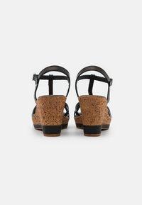 Tamaris - Platform sandals - black - 3