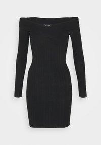 Miss Selfridge - BARDOT MINI DRESS - Shift dress - black - 4