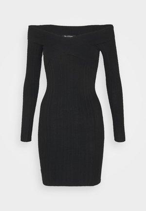 BARDOT MINI DRESS - Shift dress - black