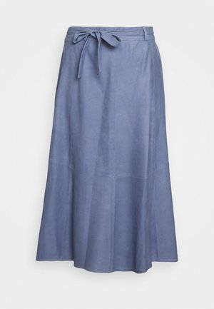 A SKIRT BELT - A-line skirt - shady blue