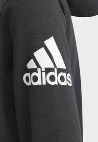 adidas Performance - LOGO FULL-ZIP HOODIE - Zip-up hoodie - black - 3