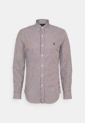 LONG SLEEVE SPORT - Shirt - brown/white
