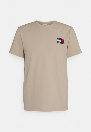 BADGE TEE - Print T-shirt - soft beige
