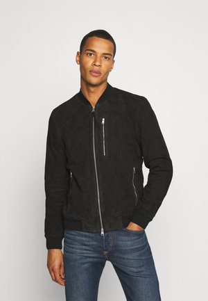 KEMBLE  - Leather jacket - black