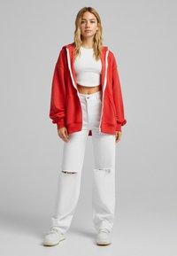 Bershka - OVERSIZE - Sweater met rits - red - 1