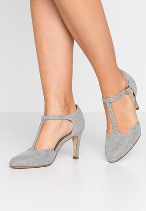 Klassiske pumps - silver glam