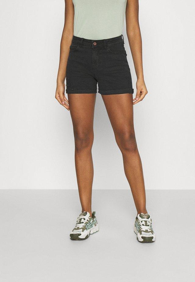 PCLISA DESTROY - Shorts vaqueros - black denim