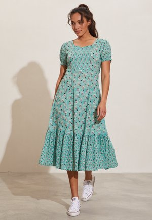 Jersey dress - dusty turquoise