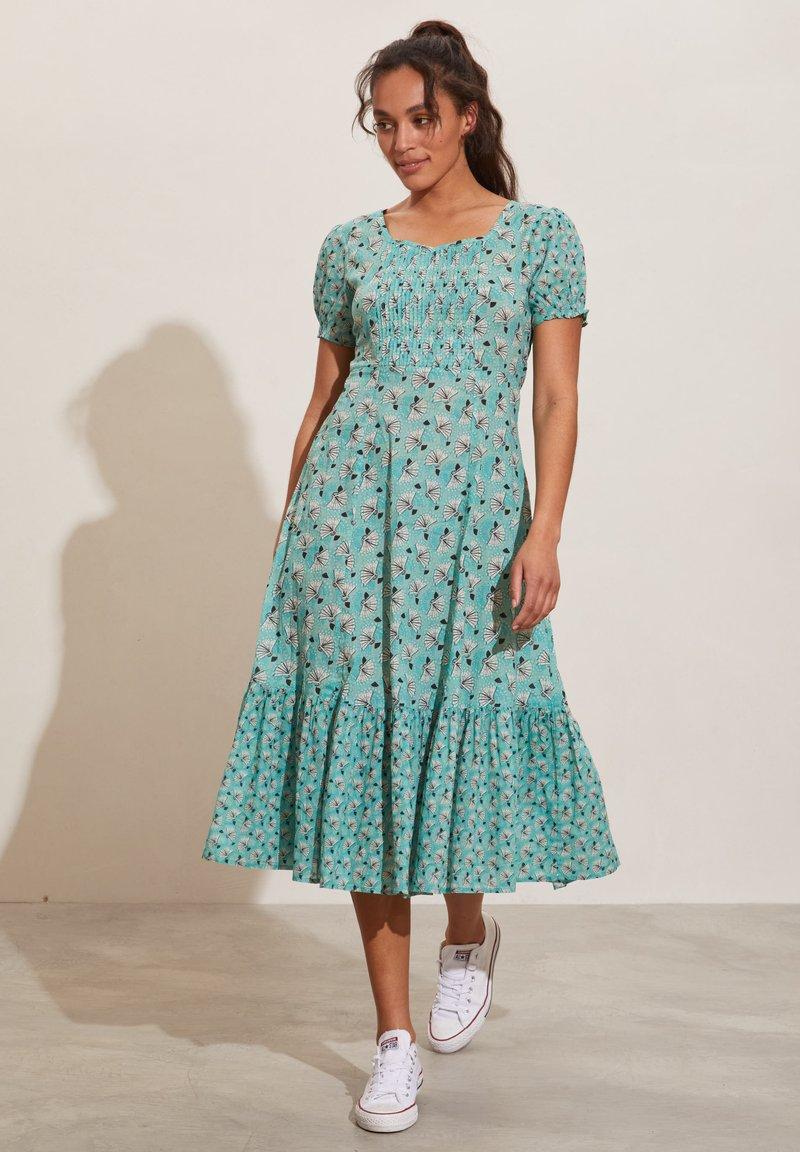 Odd Molly - Jerseyklänning - dusty turquoise