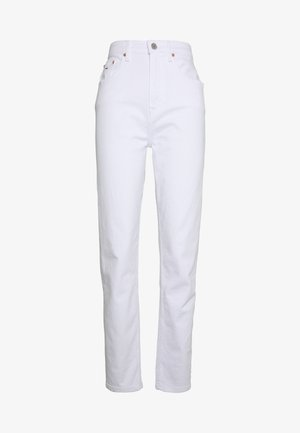 MOM TAPERED - Vaqueros boyfriend - white