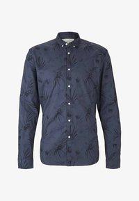 TOM TAILOR DENIM - Shirt - navy blue thistle print - 4