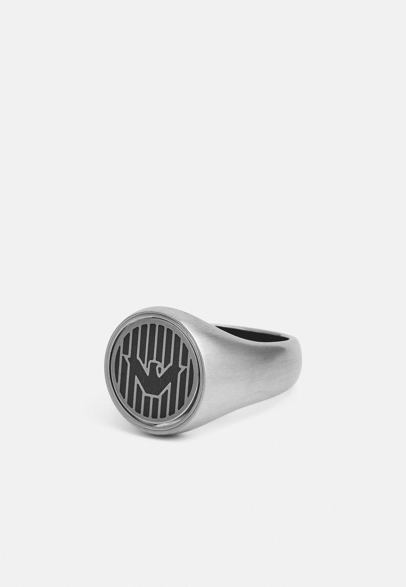 Emporio Armani - LOGO PLAY - Ring - silver-coloured