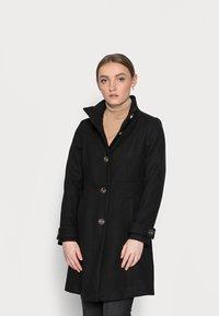 Wallis Petite - FUNNEL - Classic coat - black - 0