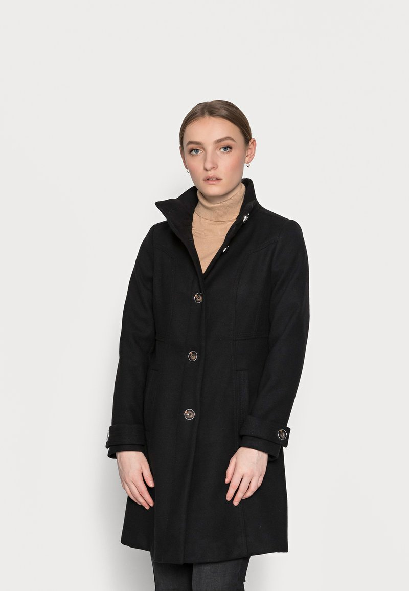 Wallis Petite - FUNNEL - Classic coat - black