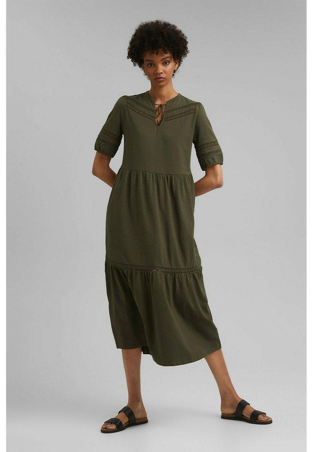 Korte jurk - khaki green