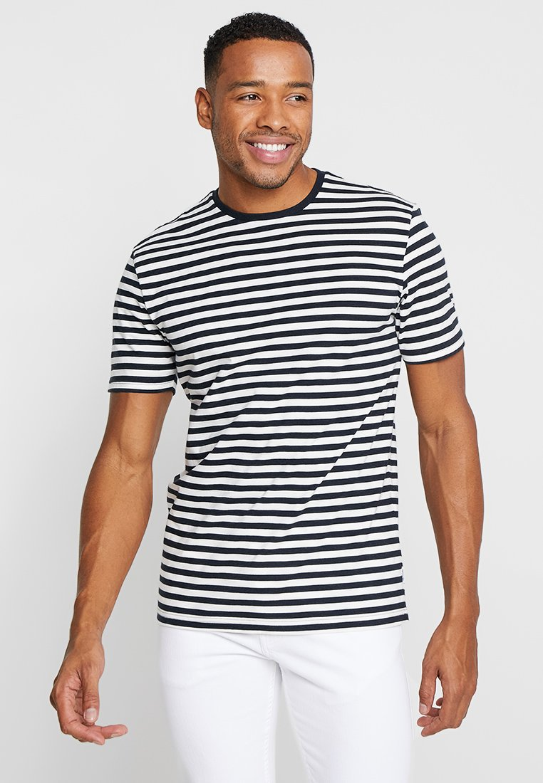 Only & Sons - ONSJAMIE LIFE SS STRIPE REG TEE NOO - Print T-shirt - dark navy