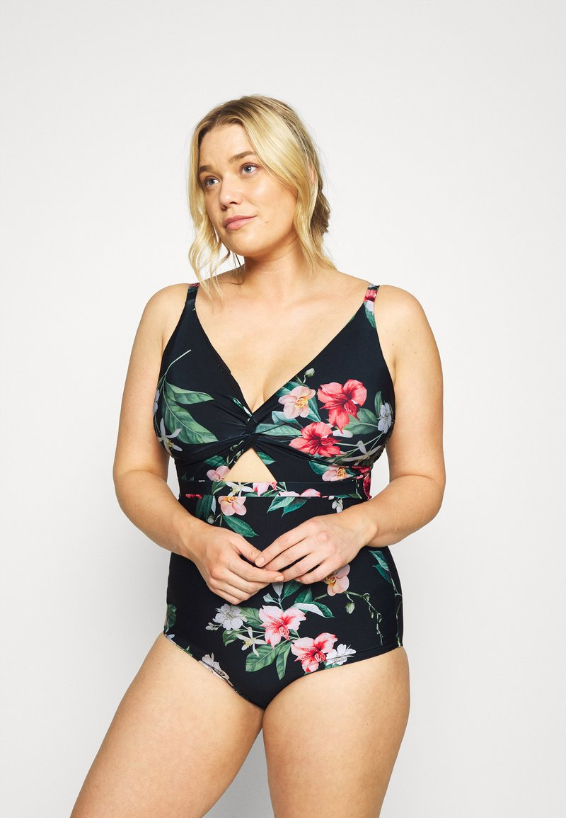 City Chic - MAJORCA - Swimsuit - black