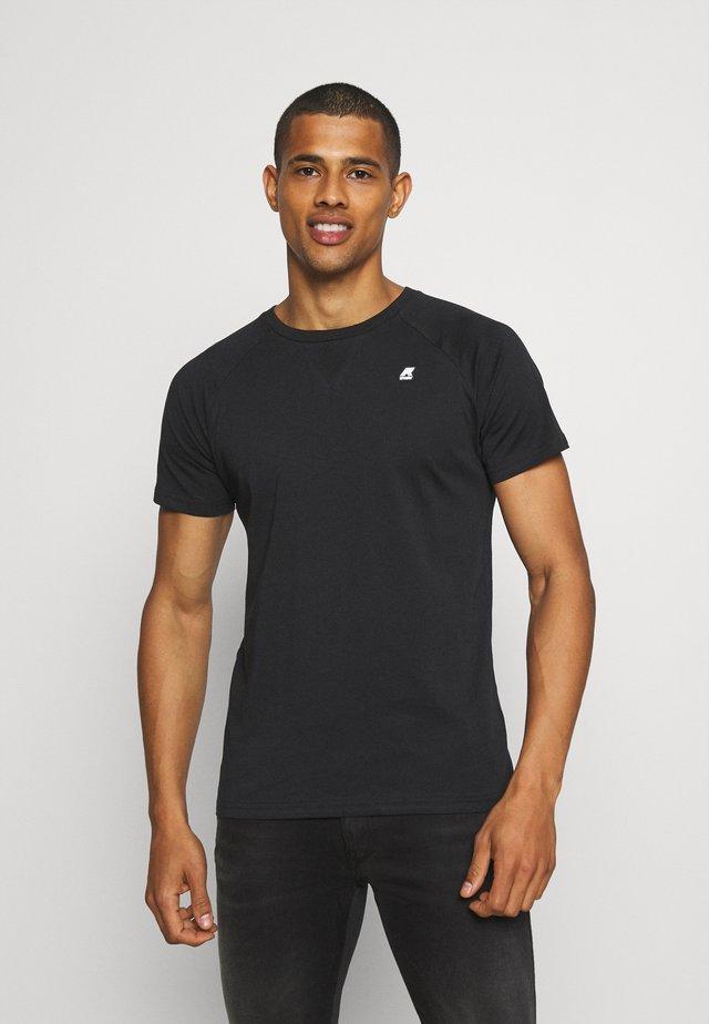 EDWING UNISEX - Basic T-shirt - black pure