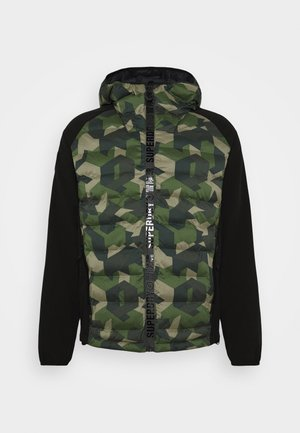 MOTION RADAR HOODED HYBRID - Soft shell jacket - dark green
