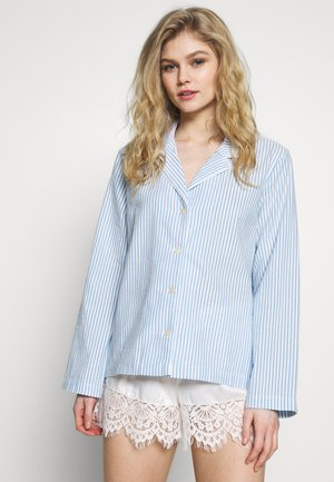 POPLIN SLEEPSHIRT - Pyjamashirt - blue/white