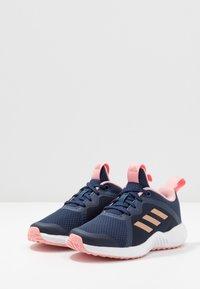adidas Performance - FORTARUN X - Chaussures de running neutres - tech indigo/copper metallic/glow pink - 3