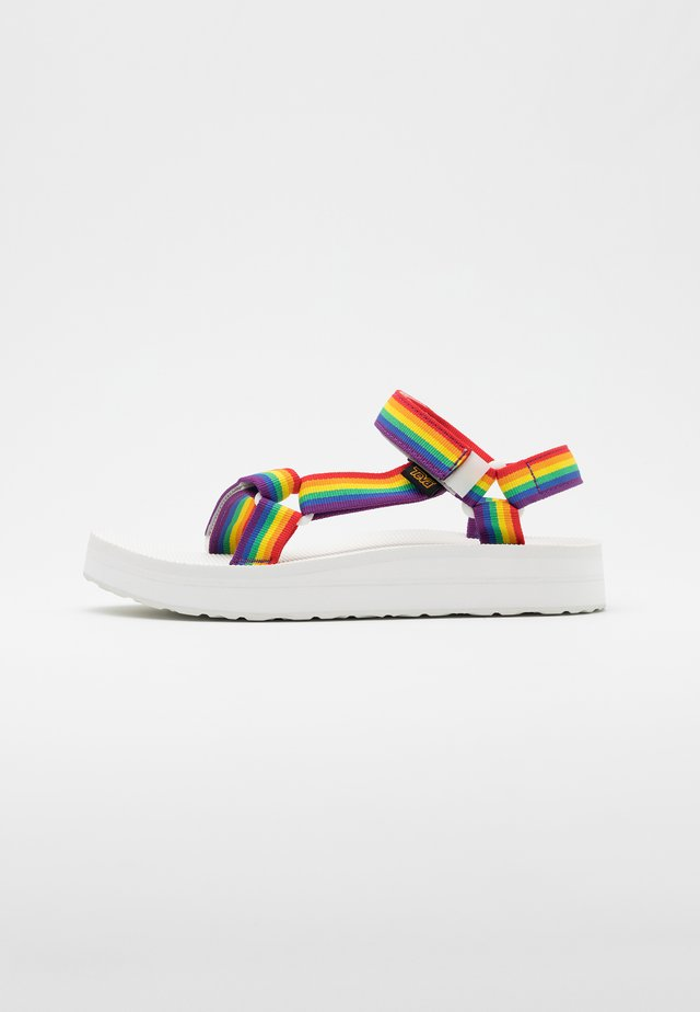 MIDFORM UNIVERSAL - Walking sandals - rainbow/white