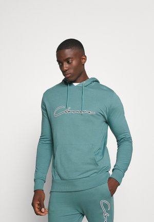 DOUBLE SCRIPT TRACKSUIT SET - Sweat à capuche - teal