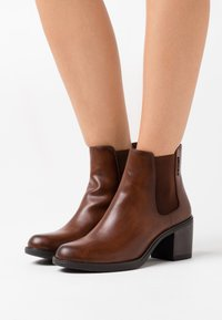 TOM TAILOR DENIM - Ankle boots - cognac - 0