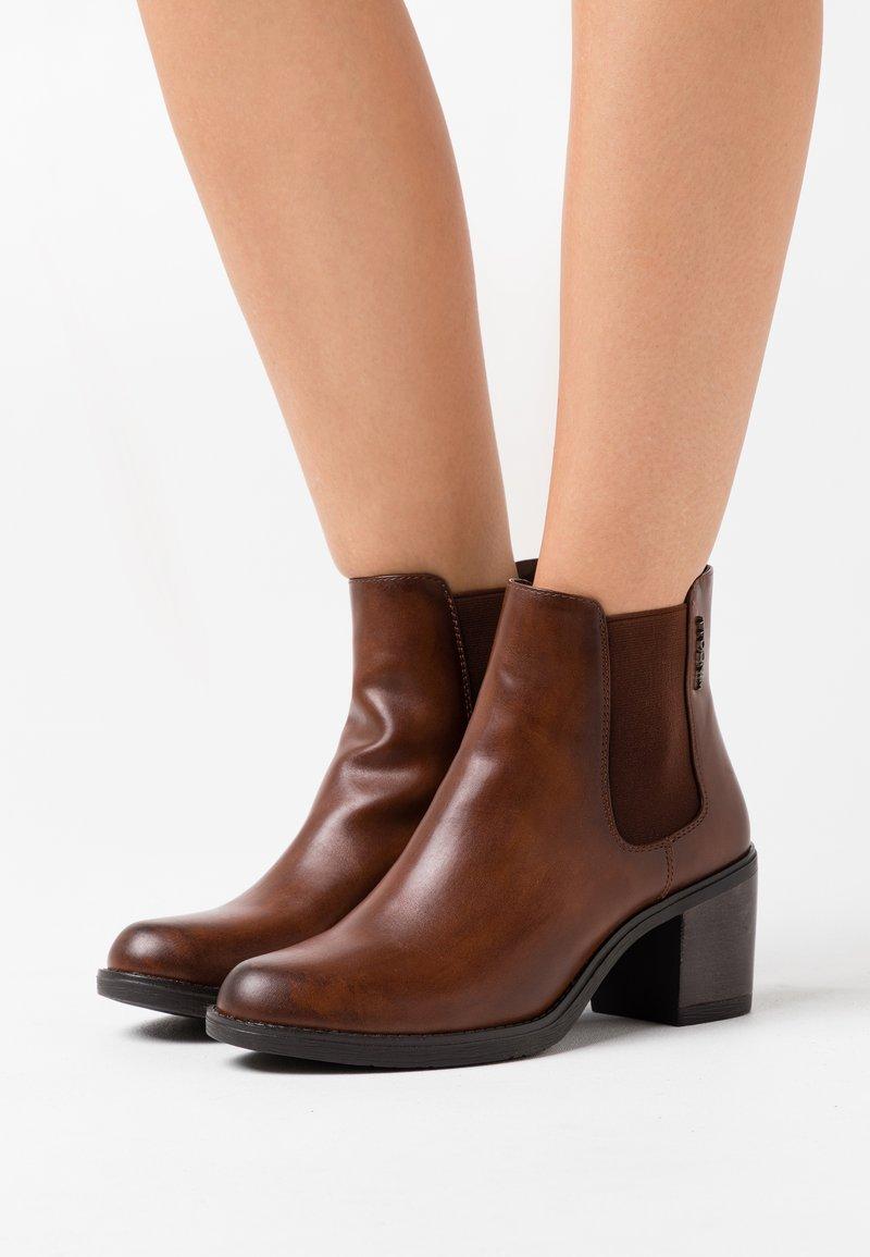 TOM TAILOR DENIM - Ankle boots - cognac