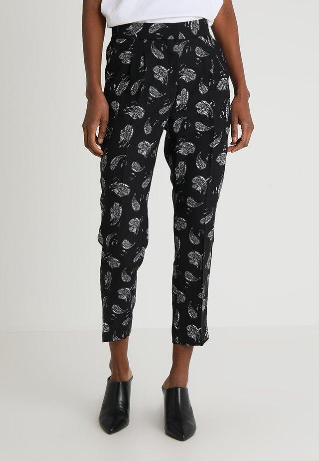 PAISLEY AFFAIR FRONT LEG PANTS - Bukser - rich black