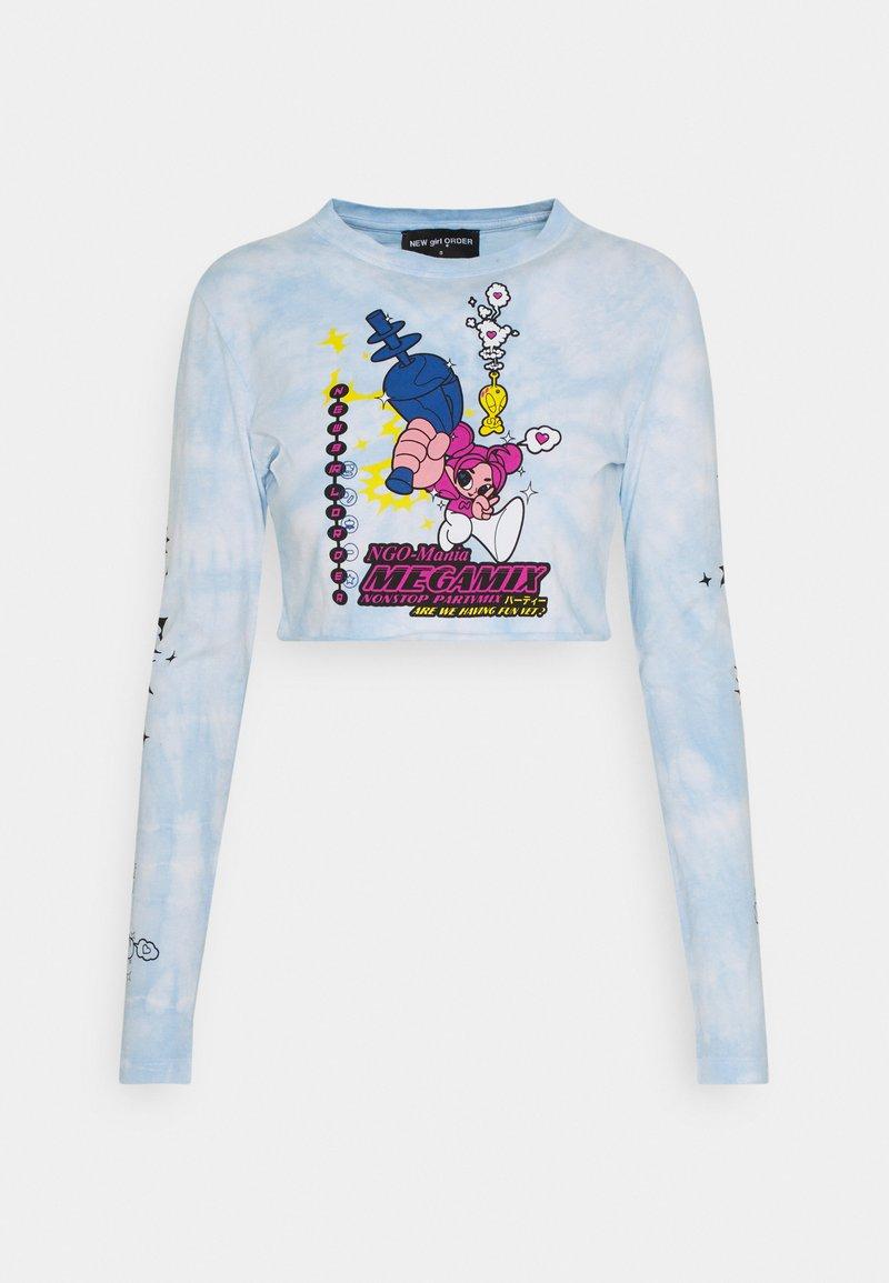 NEW girl ORDER - MEGAMIX CROP  - T-shirt à manches longues - blue