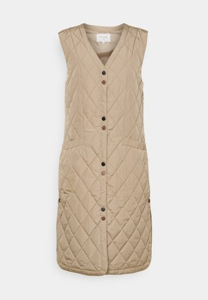 CRMELIKA QUILTED WAISTCOAT - Waistcoat - beige